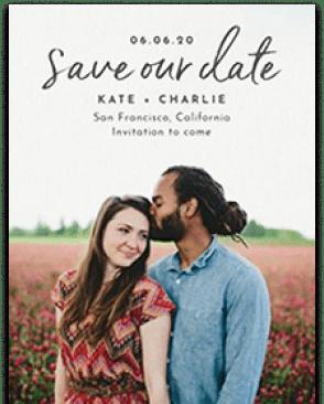 Beautiful save the dates