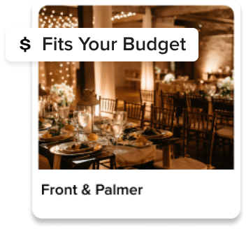 Venues that fit your budget