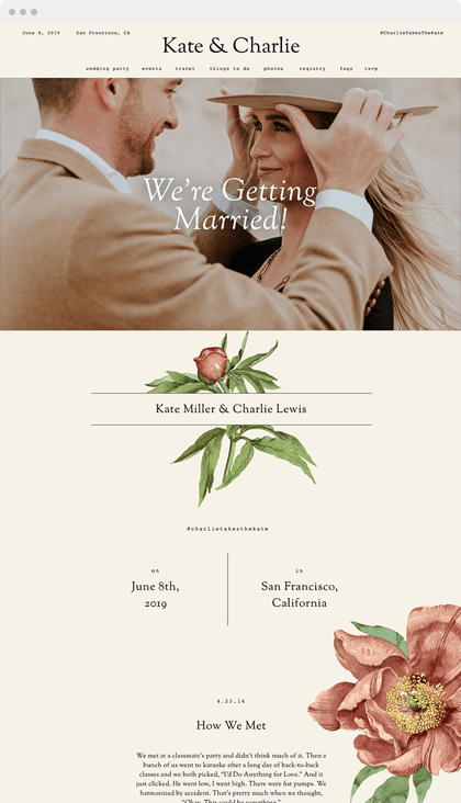 Find A Couple S Wedding Website.The Home Of All Things Wedding Zola